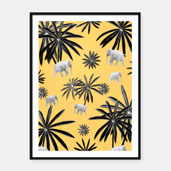 Palm Tree Elephant Jungle Pattern #4 (Kids Collection) #decor #art  Plakat mit rahmen obraz miniatury