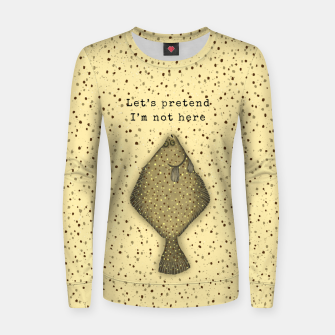 Miniature de image de Let's Pretend I'm Not Here Women sweater, Live Heroes