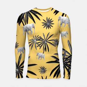 Palm Tree Elephant Jungle Pattern #4 (Kids Collection) #decor #art  Longsleeve rashguard obraz miniatury