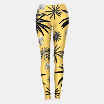 Miniature de image de Palm Tree Elephant Jungle Pattern #4 (Kids Collection) #decor #art  Leggings, Live Heroes