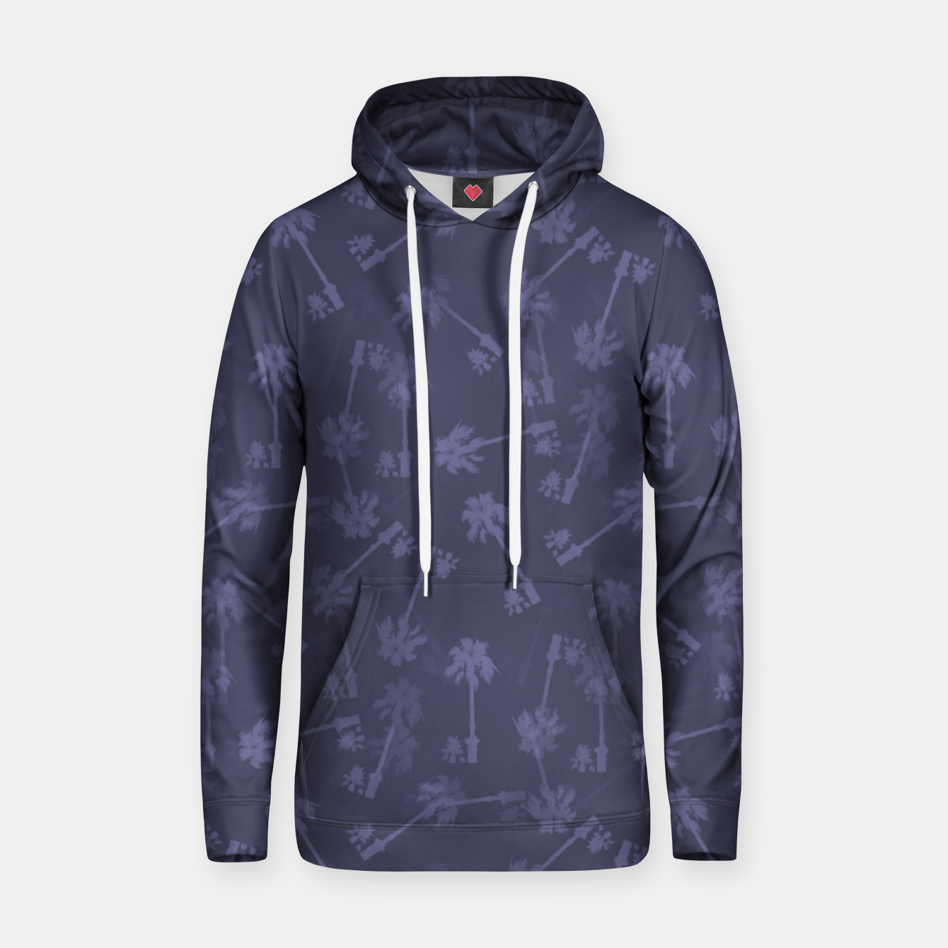 Image of Indigo blue Small palms pattern Hoodie - Live Heroes