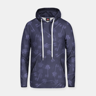 Thumbnail image of Indigo blue Small palms pattern Hoodie, Live Heroes