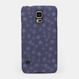 Thumbnail image of Indigo blue Small palms pattern Samsung Case, Live Heroes