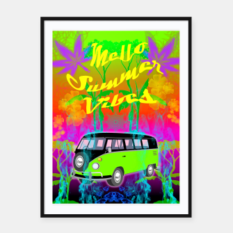 Thumbnail image of Mello Summer Vibes Framed poster, Live Heroes