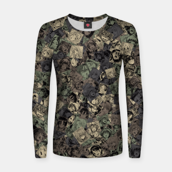 Ahegao camouflage Women sweater miniature