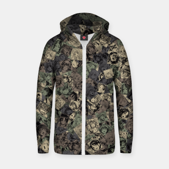 Thumbnail image of Ahegao camouflage Zip up hoodie, Live Heroes