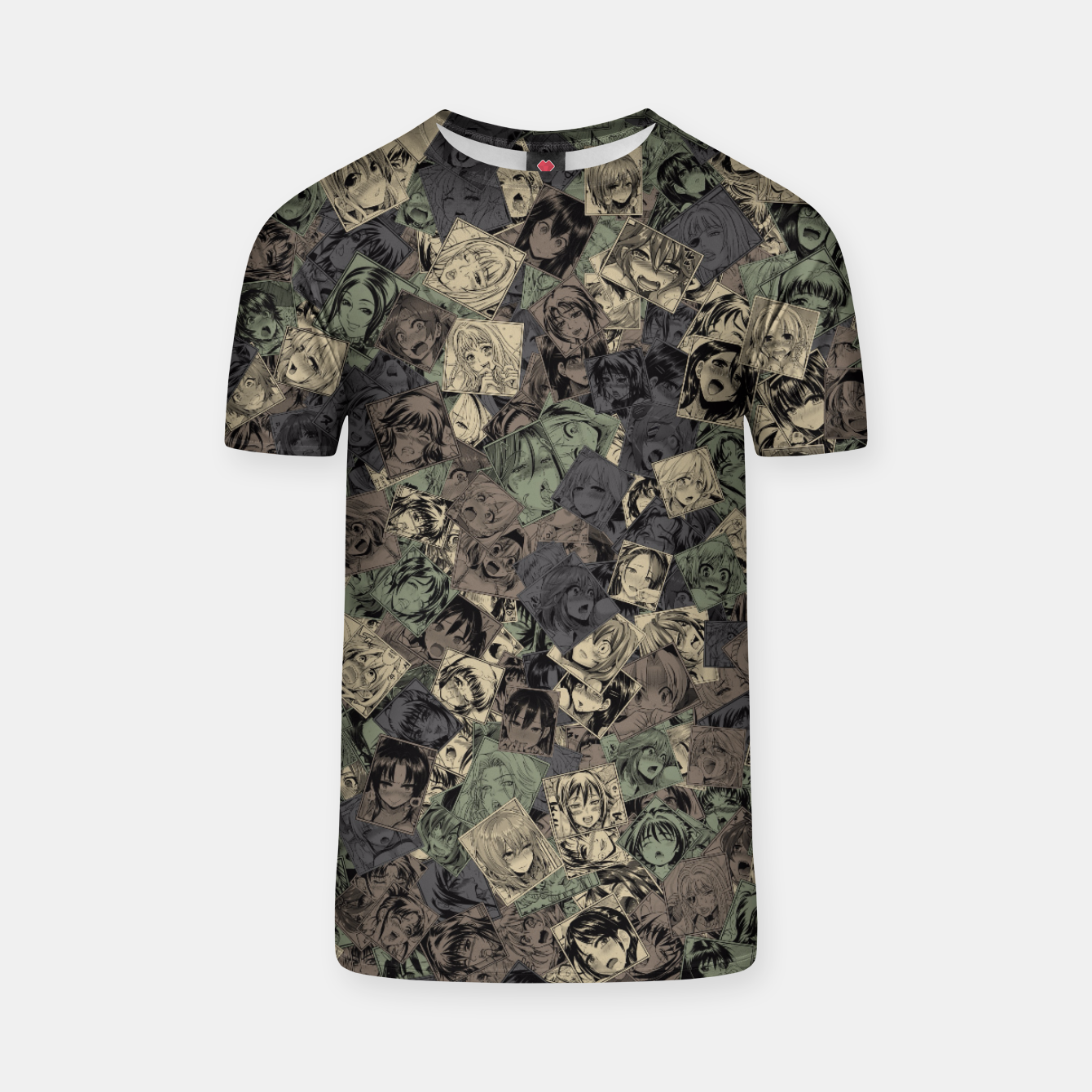 Image of Ahegao camouflage T-shirt - Live Heroes