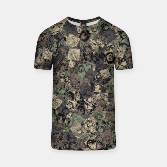 Thumbnail image of Ahegao camouflage T-shirt, Live Heroes