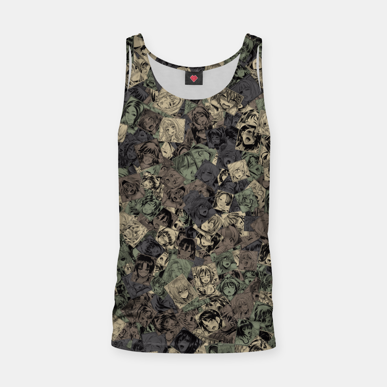 Image of Ahegao camouflage Tank Top - Live Heroes