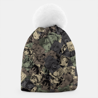 Thumbnail image of Ahegao camouflage Beanie, Live Heroes