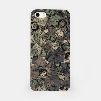 Ahegao camouflage iPhone Case miniature