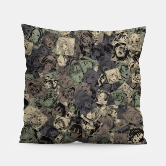 Ahegao camouflage Pillow miniature