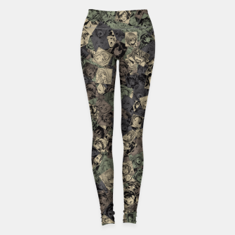 Ahegao camouflage Leggings miniature