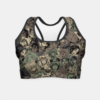 Ahegao camouflage Crop Top miniature