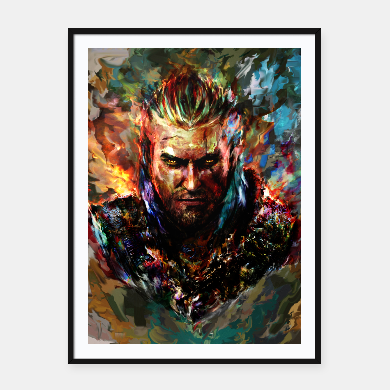 Image of witcher Framed poster - Live Heroes