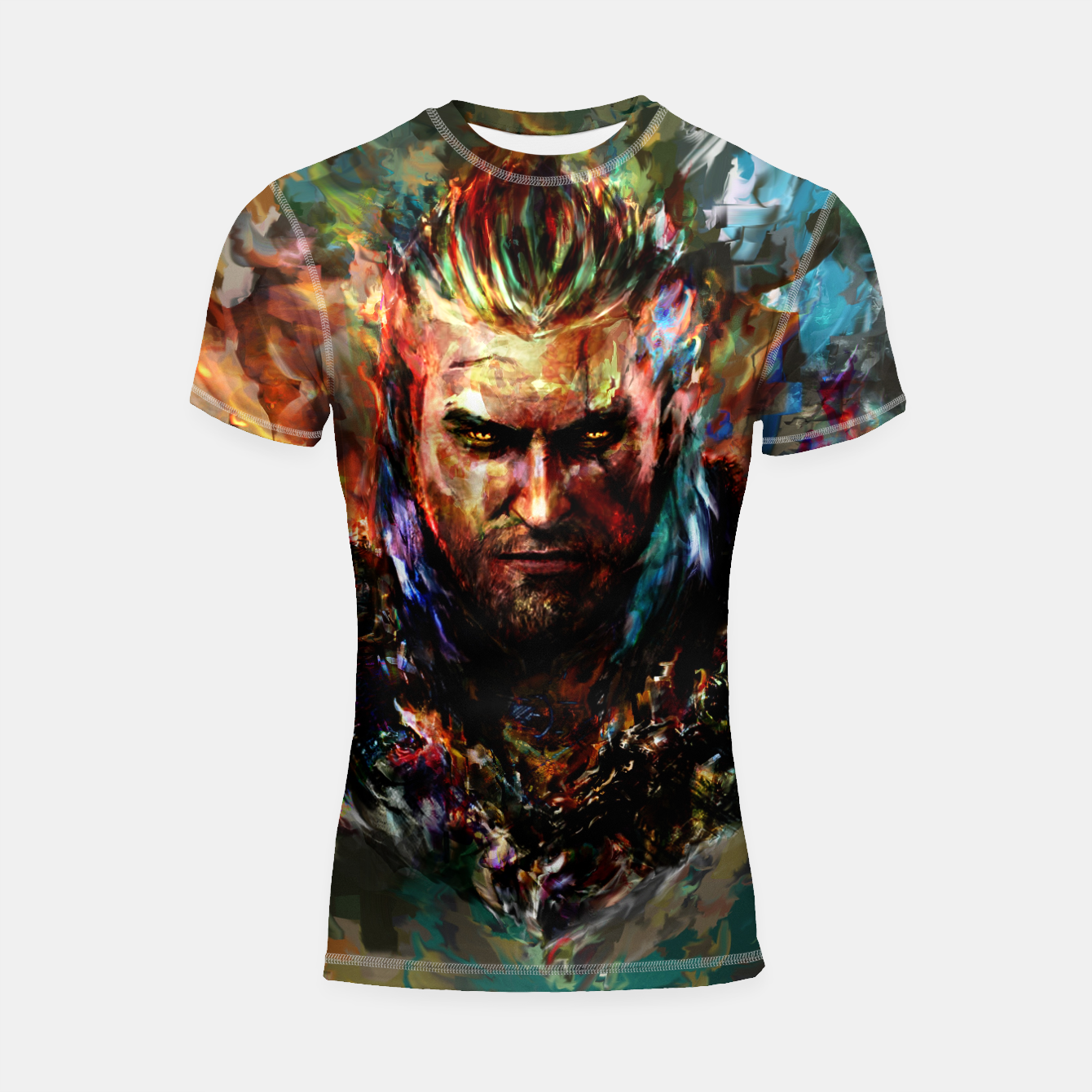 Image of witcher Shortsleeve rashguard - Live Heroes