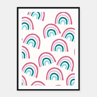 Rainbow Dream Pattern #1 (Kids Collection) #decor #art  Plakat mit rahmen thumbnail image