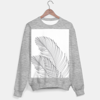 Palm Leaves Finesse Line Art #1 #minimal #decor #art  Sweatshirt regulär thumbnail image