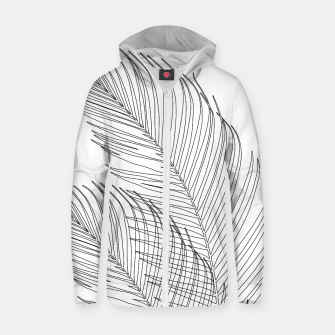 Thumbnail image of Palm Leaves Finesse Line Art #1 #minimal #decor #art  Reißverschluss kapuzenpullover, Live Heroes