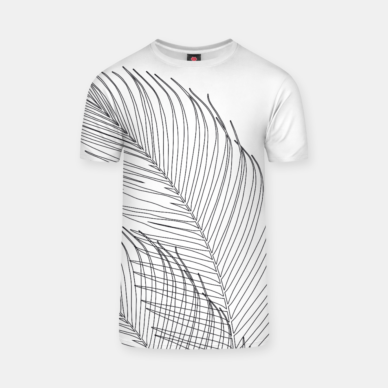 Image of Palm Leaves Finesse Line Art #1 #minimal #decor #art  T-Shirt - Live Heroes