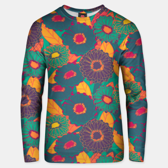 Fantasy Zinnias no.3 Unisex sweater thumbnail image