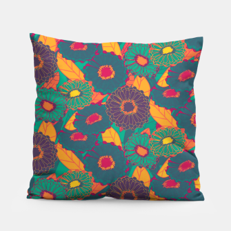 Fantasy Zinnias no.3 Pillow thumbnail image