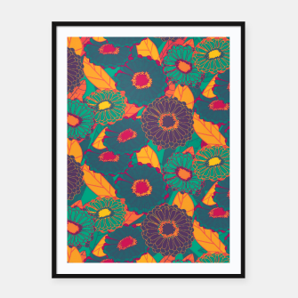 Fantasy Zinnias no.3 Framed poster thumbnail image