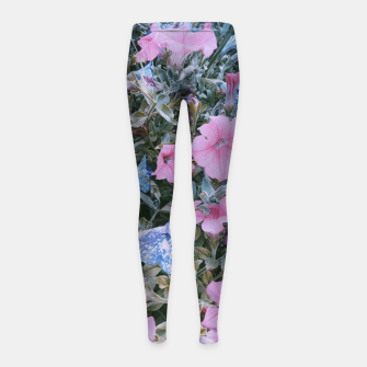 Thumbnail image of surfinias flowers Legginsy dziewczęce, Live Heroes