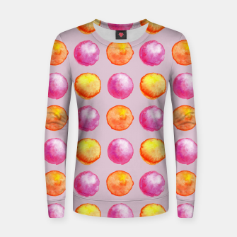 Miniatur Juicy watercolour dots in pink and orange Women sweater, Live Heroes