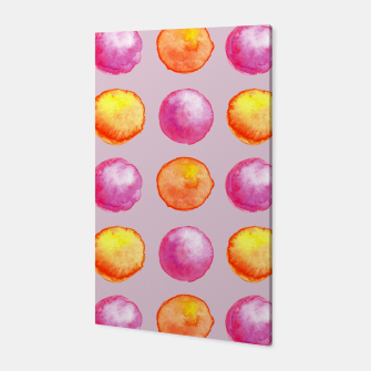 Miniatur Juicy watercolour dots in pink and orange Canvas, Live Heroes