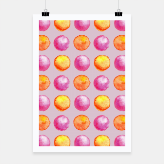 Thumbnail image of Juicy watercolour dots in pink and orange Poster, Live Heroes