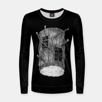 Thumbnail image of Tree Log With Forest Creatures Women sweater, Live Heroes