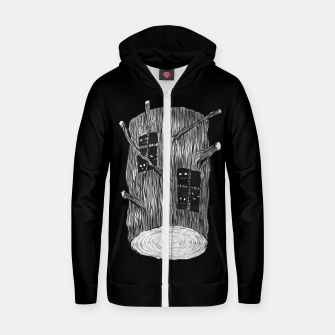 Thumbnail image of Tree Log With Forest Creatures Zip up hoodie, Live Heroes