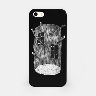 Miniatur Tree Log With Forest Creatures iPhone Case, Live Heroes