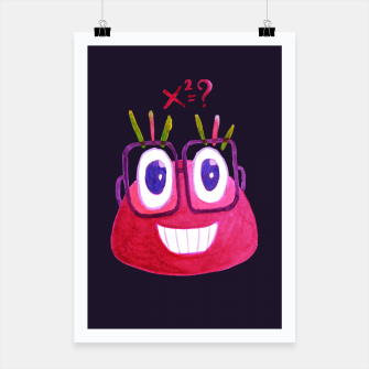 Math Candy Cute Geek Character With Glasses Poster thumbnail image