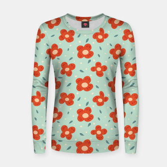 Miniaturka Simple Pretty Orange Flowers Pattern Women sweater, Live Heroes