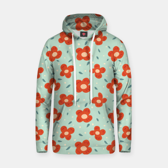 Miniaturka Simple Pretty Orange Flowers Pattern Hoodie, Live Heroes