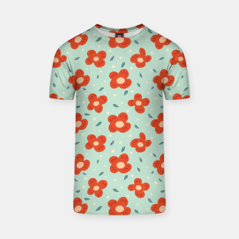 Miniaturka Simple Pretty Orange Flowers Pattern T-shirt, Live Heroes