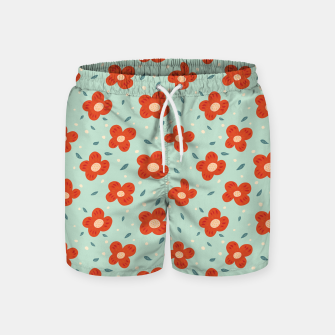Miniaturka Simple Pretty Orange Flowers Pattern Swim Shorts, Live Heroes