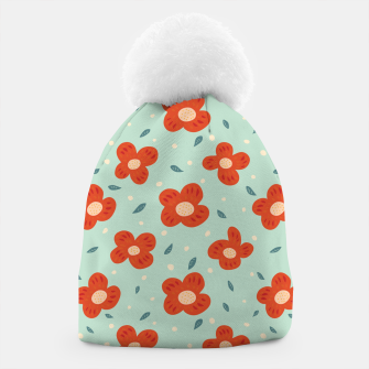 Miniaturka Simple Pretty Orange Flowers Pattern Beanie, Live Heroes