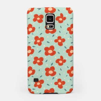 Thumbnail image of Simple Pretty Orange Flowers Pattern Samsung Case, Live Heroes