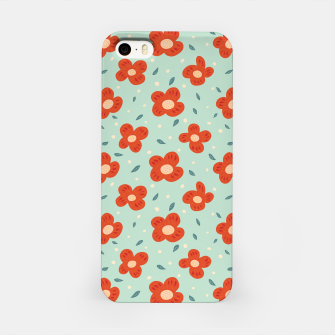 Miniaturka Simple Pretty Orange Flowers Pattern iPhone Case, Live Heroes