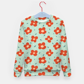 Miniaturka Simple Pretty Orange Flowers Pattern Kid's sweater, Live Heroes
