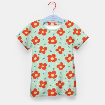 Miniaturka Simple Pretty Orange Flowers Pattern Kid's t-shirt, Live Heroes