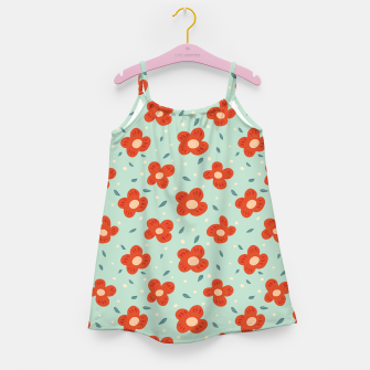 Miniaturka Simple Pretty Orange Flowers Pattern Girl's dress, Live Heroes