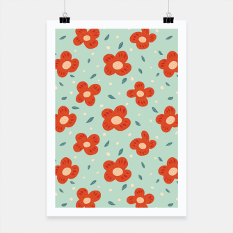 Miniaturka Simple Pretty Orange Flowers Pattern Poster, Live Heroes