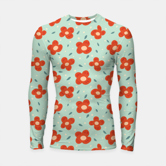 Miniaturka Simple Pretty Orange Flowers Pattern Longsleeve rashguard , Live Heroes