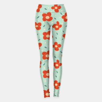 Miniaturka Simple Pretty Orange Flowers Pattern Leggings, Live Heroes