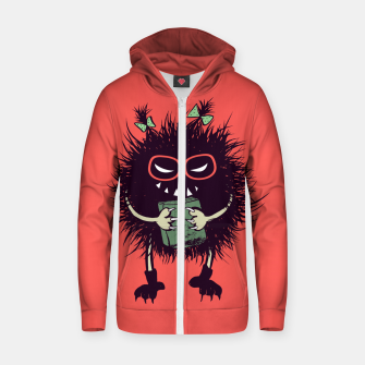 Evil geek girl character with book Zip up hoodie thumbnail image