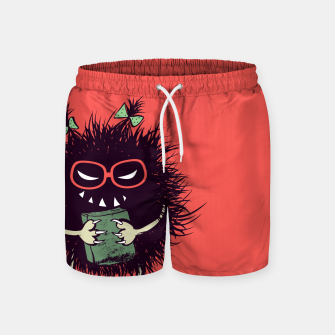 Evil geek girl character with book Swim Shorts thumbnail image